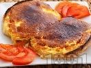 Рецепта Принцеси - печени филийки с яйце и сирене на фурна